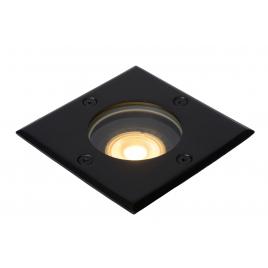 Spot extérieur encastrable carré noir Biltin GU10 35 W dimmable LUCIDE