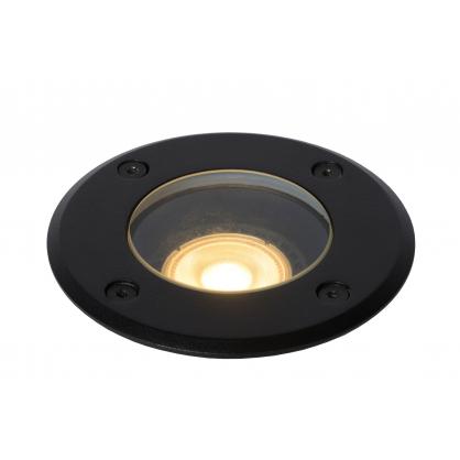 Spot extérieur encastrable rond noir Biltin GU10 35 W dimmable LUCIDE