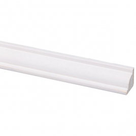 Moulure de plafond en pin blanche 270 x 1,6 x 1,6 cm
