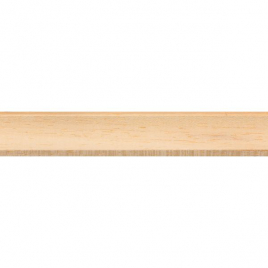 Moulure corniche en meranti clair 270 x 1,3 x 1,3 cm