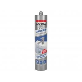 Silicone sanitaire Premium Blanc 290 ml SOUDAL