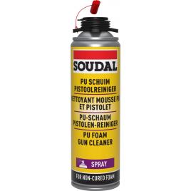 Spray nettoyant pour mousse PU et pistolet 500 ml SOUDAL