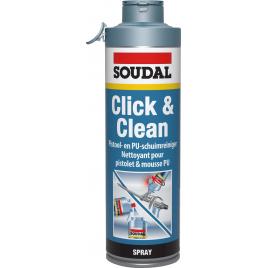 Nettoyant pour mousse et pistolet Click & Clean 500 ml SOUDAL