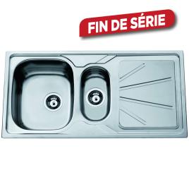 Évier de cuisine à encastrer Legato 1 + 1/2 bac acier inoxydable 100 x 50 cm VAN MARCKE GO