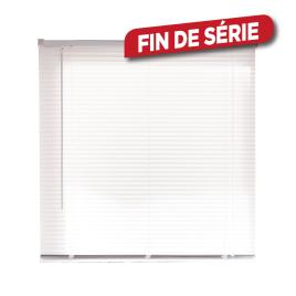Store vénitien en vinyle blanc 100 x 175 cm
