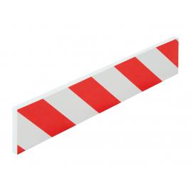 Arrêt de porte en mousse rouge et blanc 50 x 10 cm