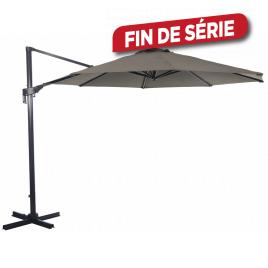 Parasol déporté inclinable rotatif taupe Ø 350 cm