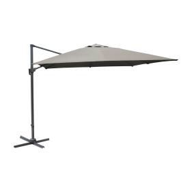 Parasol déporté inclinable rotatif taupe 400 x 300 cm