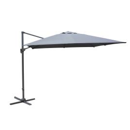 Parasol déporté inclinable rotatif gris 300 x 300 cm