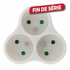 Domino 3 x 16 A blanc