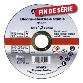 Disque à tronçonner Cut-Fix extra fins pour métal - 125 mm