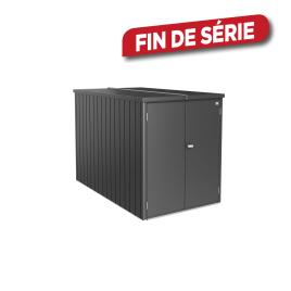 Mini garage gris foncé 1,22 x 2,03 x 1,45 m BIOHORT