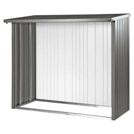 Panneau arrière pour abri bûches gris métallisé 1,45 x 1,96 m BIOHORT