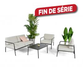 Salon de jardin en aluminium et olefin