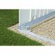 Cadre de sol pour mini garage 1,17 x 1,98 m BIOHORT