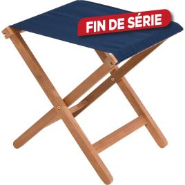 Tabouret pliant bleu 39 x 42 x 45 cm