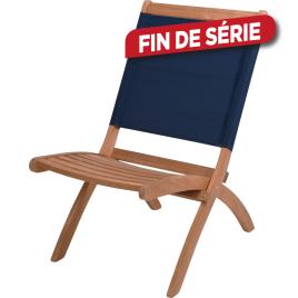 Chaise de jardin pliante bleue