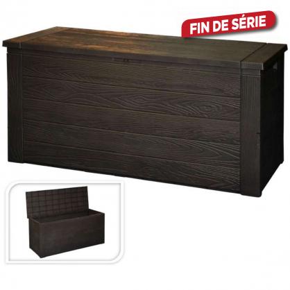 Coffre de rangement brun 300 L