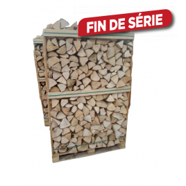 Box de bois de chauffage demi-sec 33 cm 2 m³