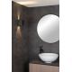 Applique murale de salle de bain carrée noire Axi LED 6 W LUCIDE