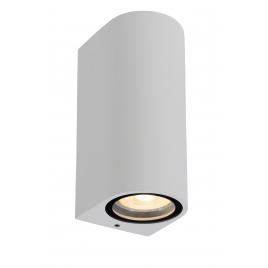 Applique extérieure ronde blanche Zaro GU10 70 W dimmable LUCIDE