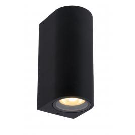 Applique extérieure ronde noire Zaro GU10 70 W dimmable LUCIDE