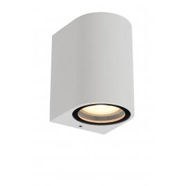 Applique extérieure ronde blanche Zaro GU10 35 W dimmable LUCIDE