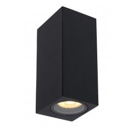 Applique extérieure noire Zaro GU10 70 W dimmable LUCIDE