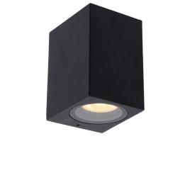 Applique extérieure noire Zaro GU10 35 W dimmable LUCIDE