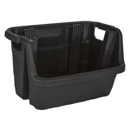 box à empiler Heavy Duty plastique noir PRACTO HOME