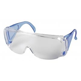 Lunettes de protection entièrement transparentes, bleues, monture
