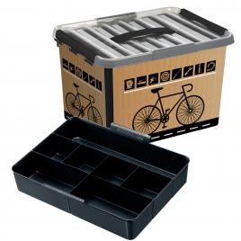 Boîte Q-line à compartiment décor vélo 22 L SUNWARE