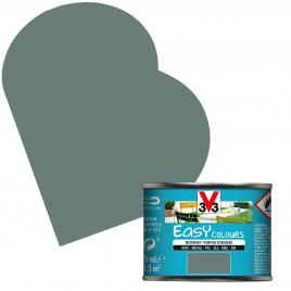 Peinture extérieure Easy Colours pour bois métal PVC Vert de Gris satinée 0,125 L V33