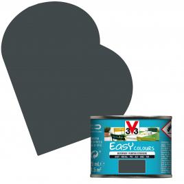 Peinture extérieure Easy Colours pour bois métal PVC Anthracite satinée 0,125 L V33