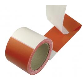 Ruban de signalisation rouge et blanc 8 cm x 500 m