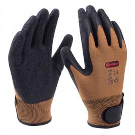 Paire de gants en nylon avec fermeture velcro taille 10