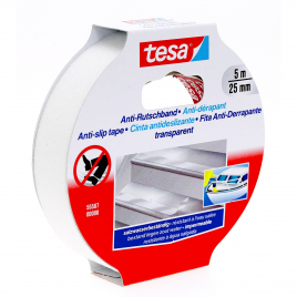 Ruban antidérapant transparent 25 mm x 5 m TESA