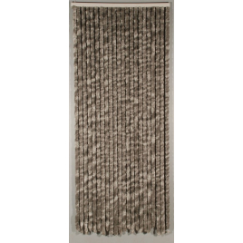 Porte provençale Castor 90 x 205 cm gris CONFORTEX