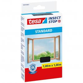 Moustiquaire auto-agrippant standard pour fenêtre Insect Stop 1 x 1 m anthracite TESA