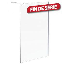 Paroi de douche fixe transparent Parma 90 x 200 cm AURLANE