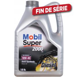 Huile moteur Semi-Synthetic Super 2000 X1 Diesel 10W-40 5 L MOBIL