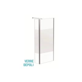 Paroi de douche avec pivot dépolie Parma 90/45 x 200 cm AURLANE