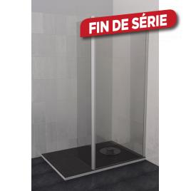Paroi de douche avec pivot transparente Parma 90/45 x 200 cm AURLANE