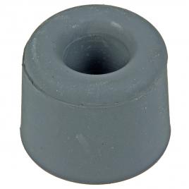 Arrêt de porte à visser en caoutchouc 25 mm gris 2 pièces