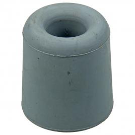 Arrêt de porte à visser en caoutchouc 35 mm gris 2 pièces