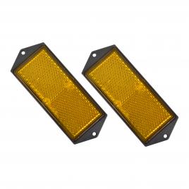 Réflecteur orange 10,4 x 4 cm 2 pièces CARPOINT