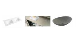 Vasque et plan de toilette