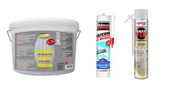 Colle, mastic, silicone et mousse polyuréthane