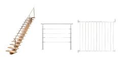 Escalier, rambarde et barrière d'escalier