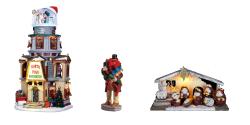 Village, crèche et figurine de Noël